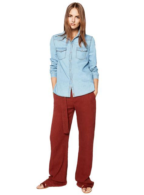 Zara Basic Shirt zara basic denim shirt eveprest