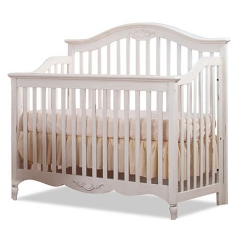 White Baby Cribs Baby Convertible Crib In Milan Antique White