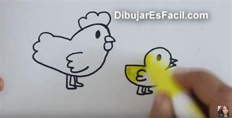 imagenes de gallinas faciles para dibujar c 243 mo dibujar una gallina y un pollito paso a paso para