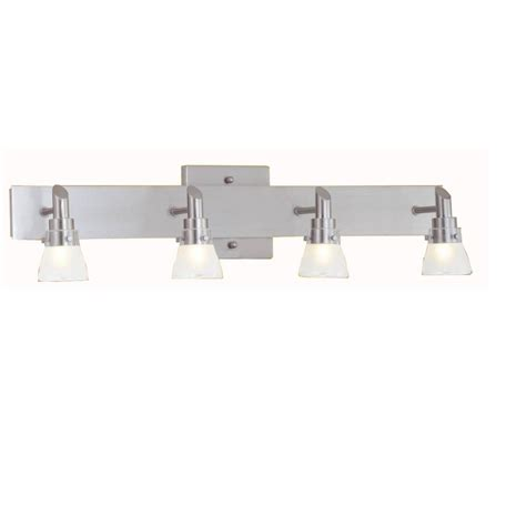 portfolio  light brushed nickel bathroom vanity light lowes canada