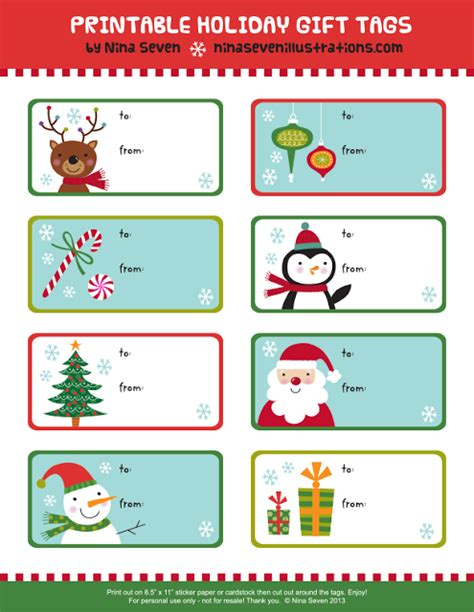 printable christmas greeting tags printable christmas gift tags happy holidays