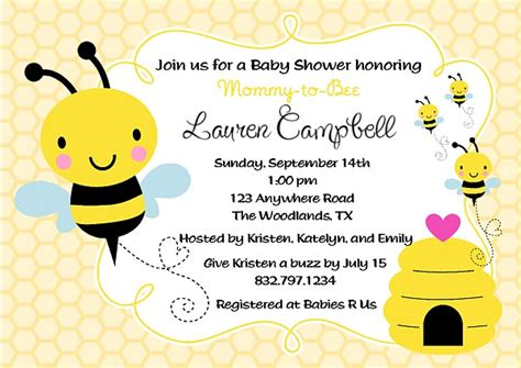 Bee Baby Shower Invitations by Bumble Bee Baby Shower Invitations Baby Shower