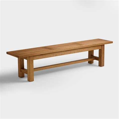 wooden bench dining wood praiano outdoor dining bench world market
