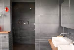 Modern Gray Tile Bathroom 32 Ideas And Pictures Of Modern Bathroom Tiles Texture