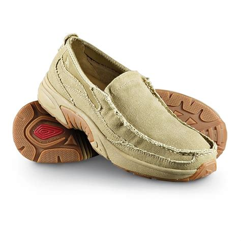 Rugged Slip On Shoes Men S Rugged Shark 174 Annapolis Canvas Slip On Boat Shoes