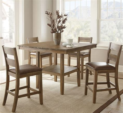 counter height dining room set cambrey rustic honey counter height dining room set