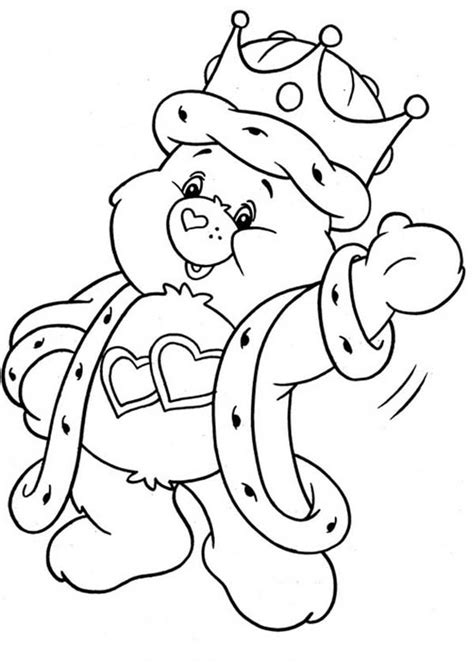 wish bear coloring pages like care bears printables coloring pages