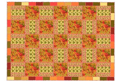 quilt pattern using 3 fabrics easy rag quilt pattern is perfect for focal fabrics