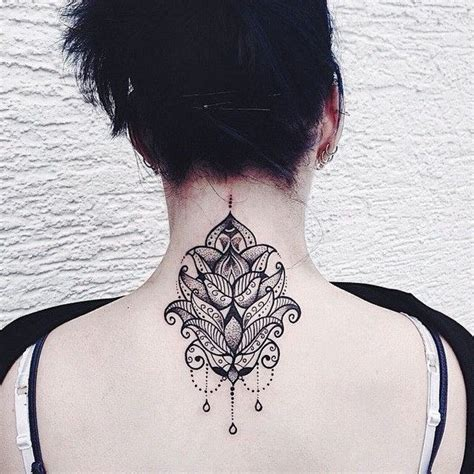 101 pretty back of neck tattoos 101 pretty back of neck tattoos tatuajes mandalas y de todo