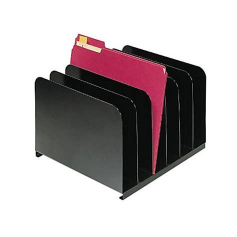 Office Max Desk Organizer Steelmaster Vertical Steel Organizer 6 Slots Black By