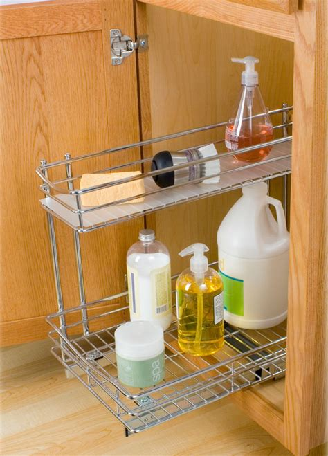 The Sink Organizers by Pull Out Sink Organizer Chrome In Pull Out Baskets