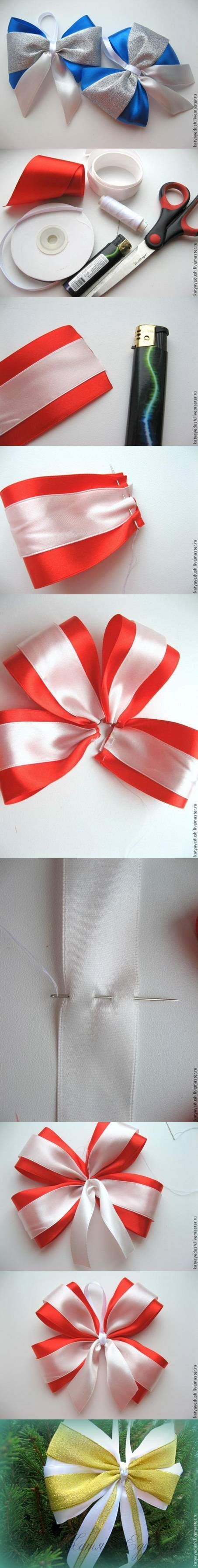 diy christmas bows for trees diy colorful bow for trees diy make it