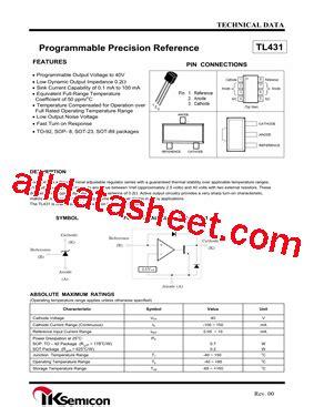 tl431 datasheet pdf ik semicon co ltd