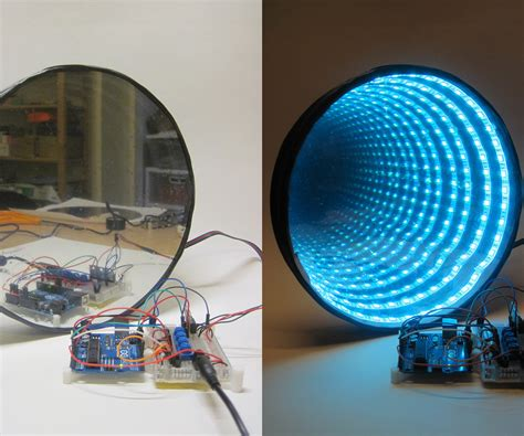 led light projects arduino controlled rgb led infinity mirror 13 steps with