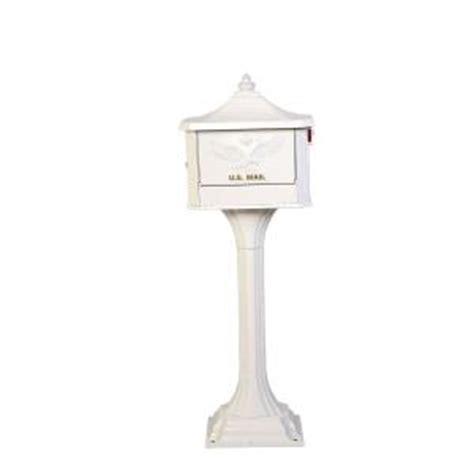 Pedestal Mailbox Home Depot gibraltar mailboxes pedestal post mount mailbox white