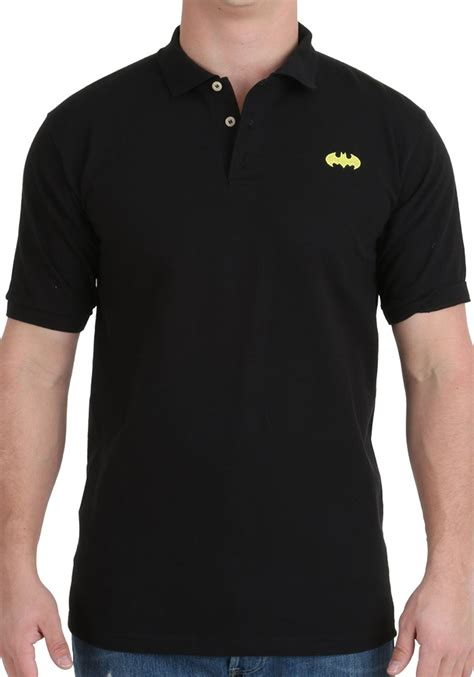 Polo Shirt Batman Black 1 batman embroidered logo polo shirt