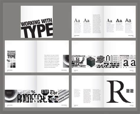 book design and layout portfolio typography graphic design layouts google search