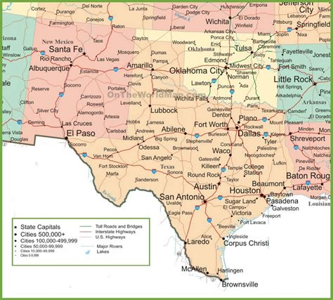 roswell texas map map new mexico and texas