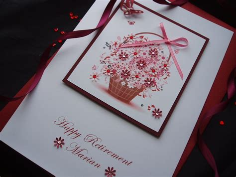 Handmade Luxury Cards - luxury handmade retirement card handmade cards pink posh