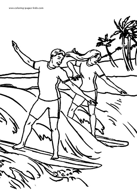 surfing coloring pages coloring pages