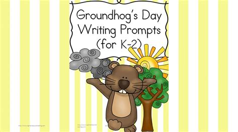 groundhog day used to something groundhog day writing prompts for kindergarten 2nd grade