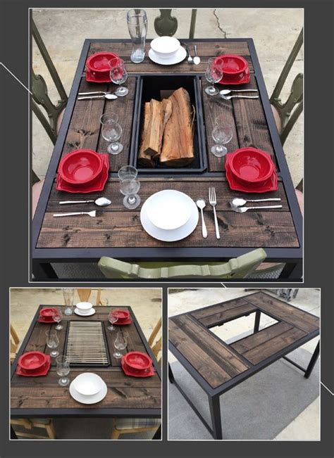 diy firepit table best 25 pit table ideas on diy grill