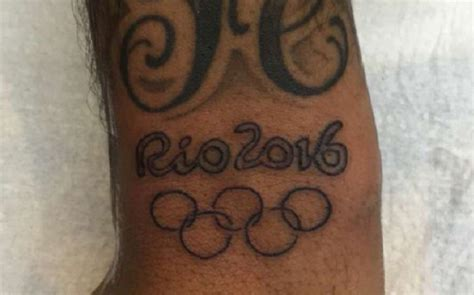 neymar draws new tattoo in memory of olympic victory