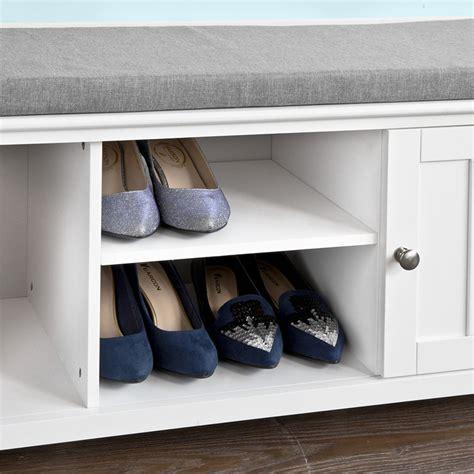 shoe storage bench with doors sobuy 174 shoe storage bench with doors storage cubes seat