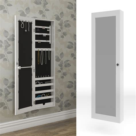 Mirrored Cabinet Jewellery Cabinet Wall White Wall Cabinet
