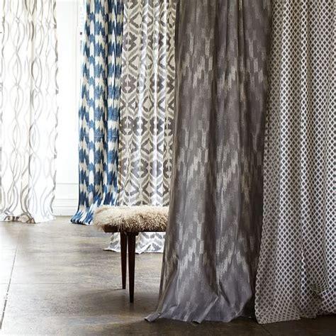 ikat curtains west elm cotton canvas printed curtain ikat chevron west elm