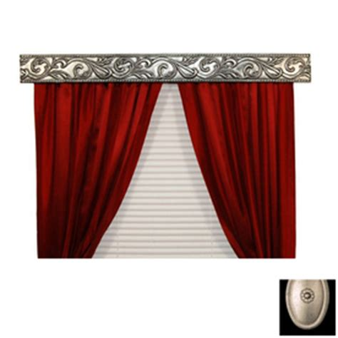 Metal Valance shop bcl drapery antique silver metal valance at lowes