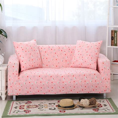 pink sofa cover sunnyrain cartoon pink sofa cover elastic l shaped sofa