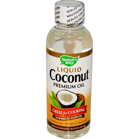 coconut oil nature s way liquid coconut premium oil 10 fl oz 296 ml