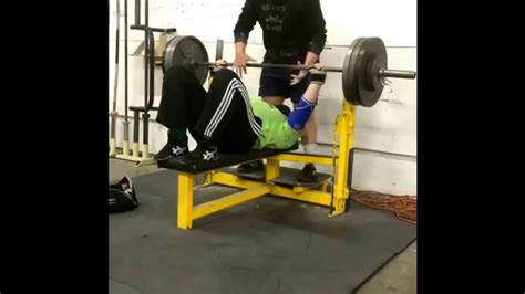 bench press with feet up 355 bench press feet up pr youtube