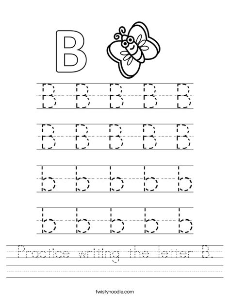 worksheets for preschool letter b letter b worksheets for preschool kindergarten printable
