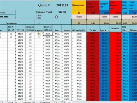 Structural Steel Estimating Template Youtube Structural Steel Estimating Template Free