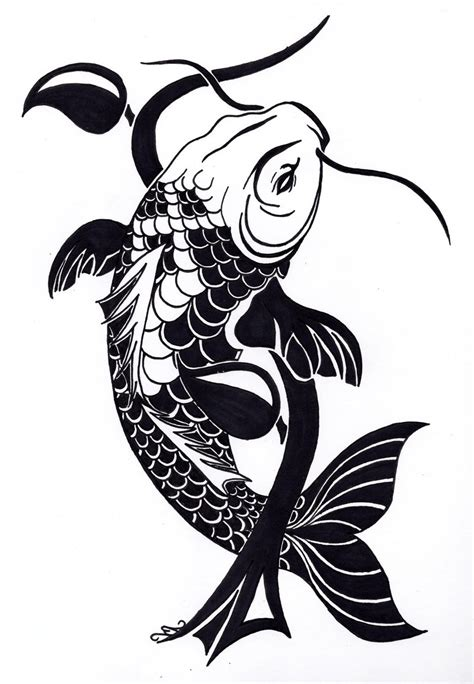 tribal fish tattoo designs koi fish tribal clipart best