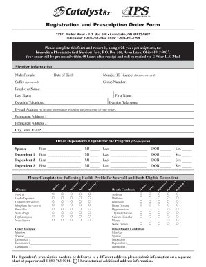 catamaran rx human resources fillable online registration and prescription order form