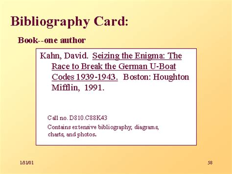 Bibliography Note Card Template by Card 黑马素材网