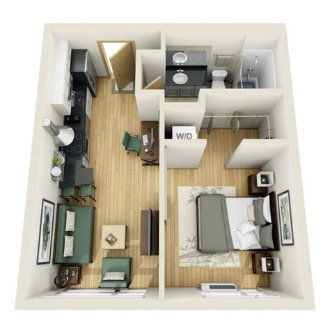 One Bedroom House Plans by