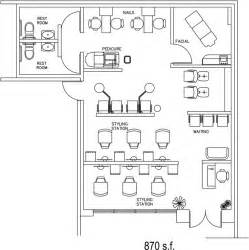 Small Beauty Salon Floor Plans by Beauty Salon Floor Plan Design Layout 870 Square Foot