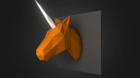 3d Model Papercraft - unicorn 3d papercraft model by noka3d 3d model