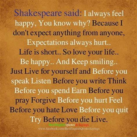 shakespeare quote to live by life is short pictures photos and images for facebook