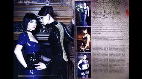 magazine layout latex atsuko kudo couture latex featured in gothic magazine