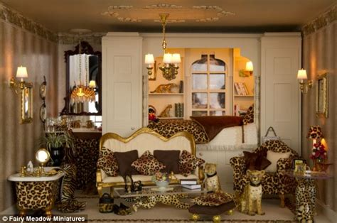 leopard print decor living room barbie doll house talk about the home of music resourceful mum carves doll