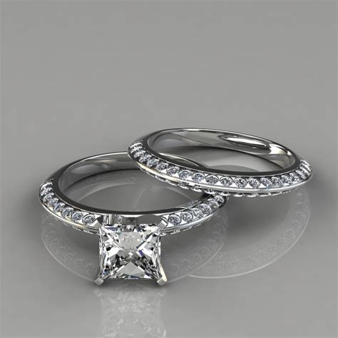 Wedding Ring Princess Cut by Princess Cut Engagement Rings And Wedding Bands Www
