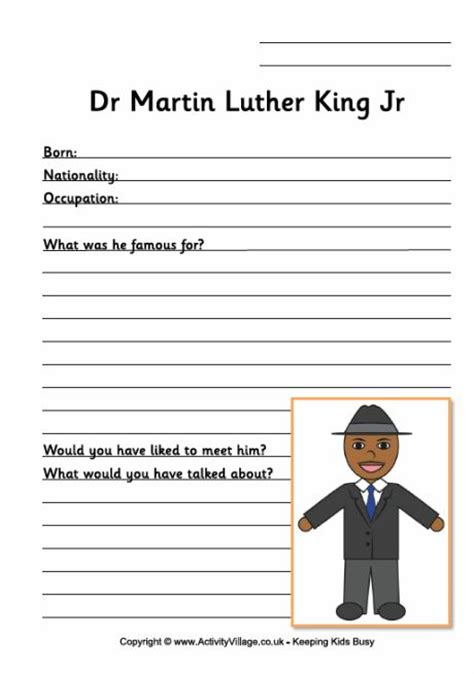 martin luther king printable activity sheets martin luther king worksheet for younger children second