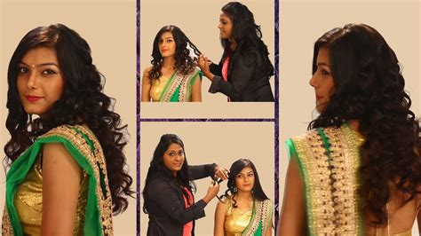 youtube indian hairstyles for saree curls hairstyle for indian weddings side curls haistyles