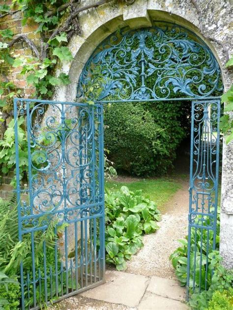 paint colors for iron gates and fences by kendra wilson a glorious gate in the garden at