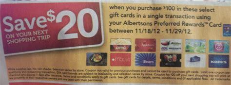 Albertsons Gift Card - albertsons gift card promotion spend 100 get 20